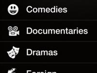 Netflix Mockup Genres View