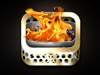 Olympic Flame Icon concept for Cisco mobile app