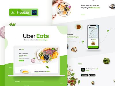 Uber Eats Website Redesign Concept ubereats uber free psd free website food website website design