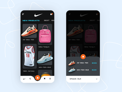 Nike app UI Exploration