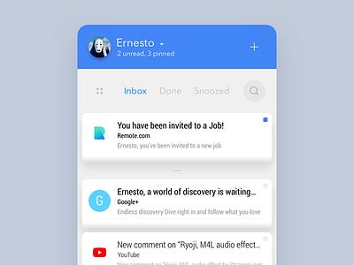 Inbox by EAZD sketch redesign mail inbox google app mobile ux ui