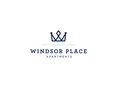 Windsor Place logo concept branding minimal logo royal crown