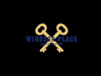 Windsor Place logo concept 2 branding apartment logo key royal