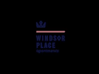 Windsor Place logo concept 3 apartment branding simple logo royal crown
