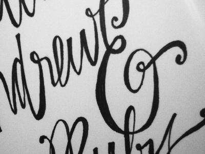MA&R type sculpture calligraphy lettering hand-drawn