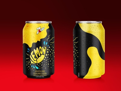 "Student project - Redesign ""7up"" limited edition can"