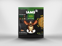 """Student project - Packaging redesign of dog's food """"IAMS"""""""
