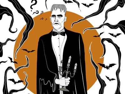 Illustration inspired by Addams Family show - Lurch