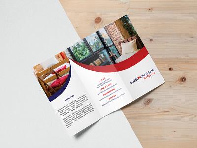 Brochure design for Serbian hotel - Guest House graphicdesigners graphicdesign designer mockup modern flat brochure design brochuredesign hotel serbia belgrade