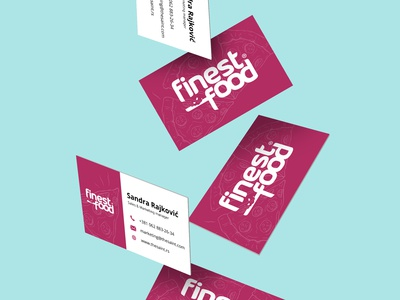 """Business Card redesign for Serbian brand """"Finest Food"""""""