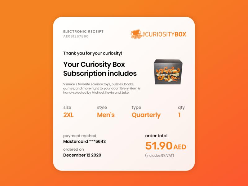 Daily #017 - Email Receipt receipt bill electronic bill email receipt clean modern design concept adobe xd dailyui ux ui