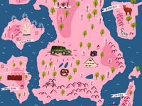 Family map print