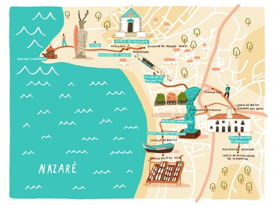 Nazare walking map