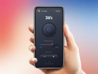Skeuomorphic Smart Shower Control UI - mockup controller mockup uidesign shower skeuomorphism neumorphism app uiux ui