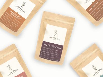 Leena Bean Coffee Labels