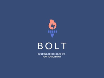 BOLT Logo Concept leaders ohio lightning bolt bolt flame highschool leadership program leadership camp leadership branding design design logo branding graphic design