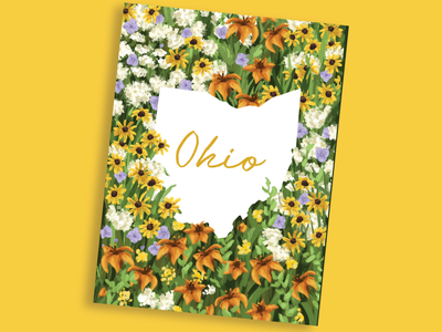 Ohio Wildflowers Illustration ohio shaped shape of ohio shape state plants flower illustrations procreate drawing digital illustration wall art posters ohio flowers ohio state state of ohio flowers poster illustration wildflowers ohio