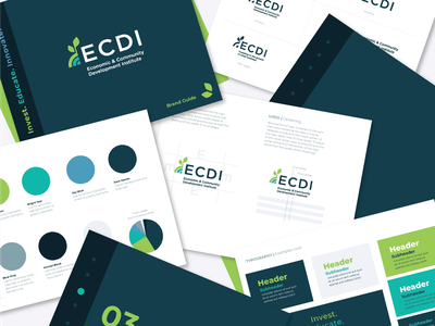 ECDI Brand Guidlines non profit loan plant environmental leaf layout design book branding logo guide booklet brand standards brand guidelines brand guide
