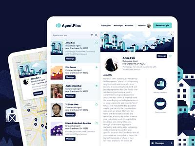 Realtor Referral Website Design building home house web design profile website map referral realtor realty real estate