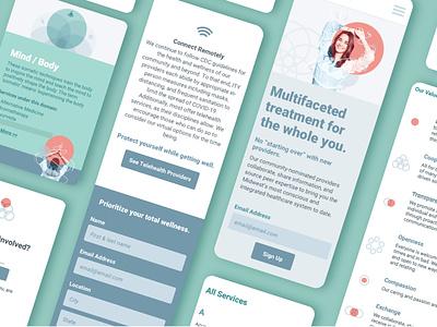 Integrative Medicine Mobile Website ux ui integrate design site health holistic medicine integrative medicine mobile website website web design