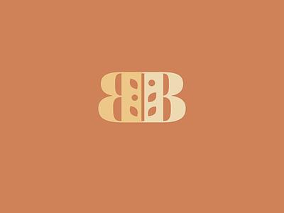 BB Monogram Plant Logo vegan plant eco friendly environmental farming farm wheat plants leaves letter b the letter b b initials bb monogram bb icon brand branding logo