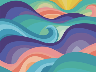 Retro Waves Illustration