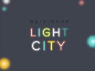 Baltimore Light City Social Media Graphic