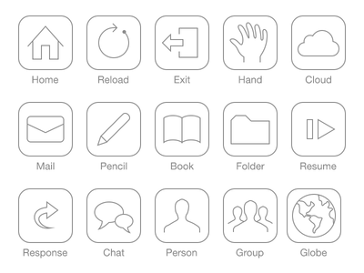 Pictogram with iOS7 style