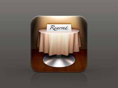 Reserved - Restaurant icon series (3/3)