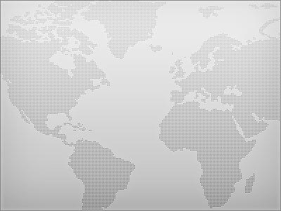 World atlas - Dotted mercator map world atlas global international dot freebie free psd