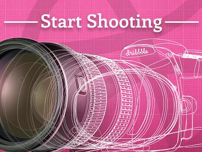 Start Shooting camera illustration debut blueprint