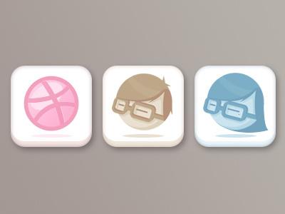Dribbble, Boys & Girls dribbble icon avatar