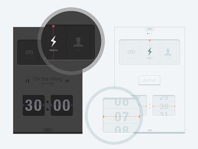 Radio App radio app flat concept alarm