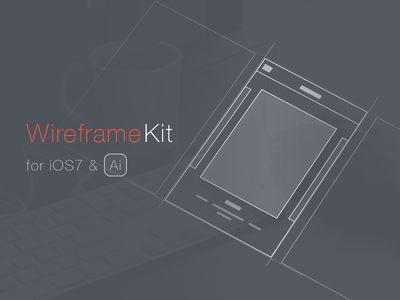 Wireframe Kit Freebie [Ai] wireframe kit freebie ios7 ai vector wireframe kit