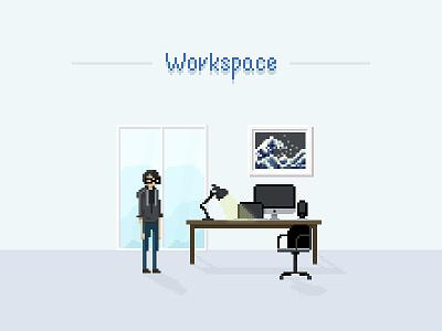 Pixel Paint Practice iphone imac macbook workspace paint pixel