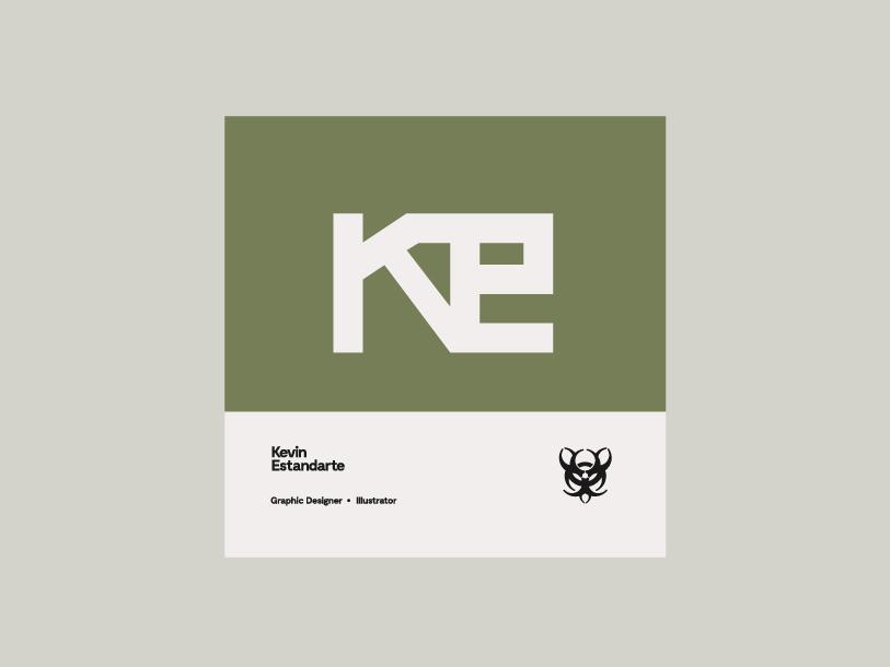 KE - Personal Logo type logo design branding