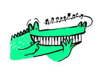 Crocodile Piano Man