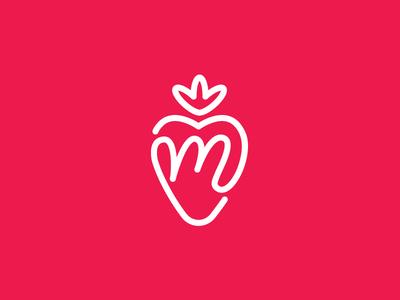 Mari Logo Mark fruit strawberry logo design