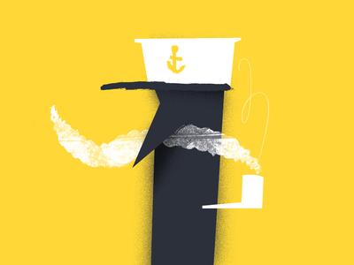 The Smoking Sailor iluustration smoking sailor