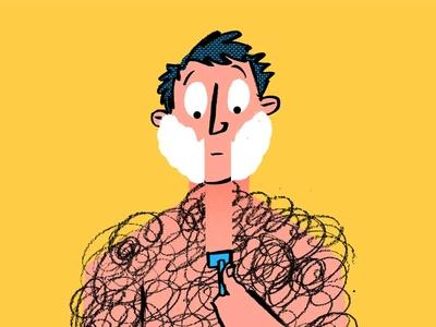 Hair shave illustration hair