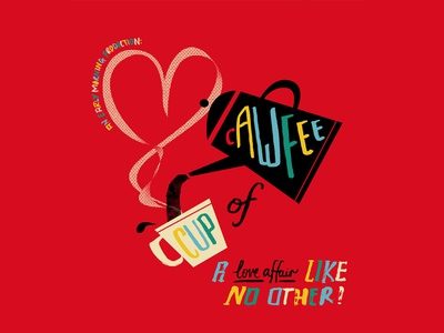 Cawfee Illustration love illustraion coffee