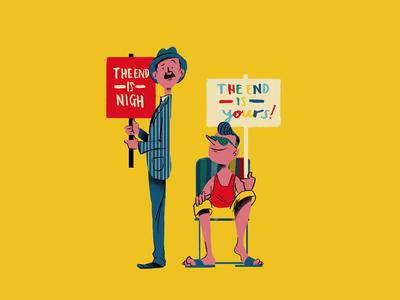 The End Is digital illustration illustration the end