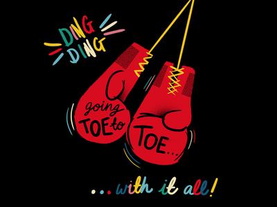 Ding Ding Illustration illustration boxing