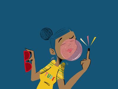 Tude Dude illustration girl