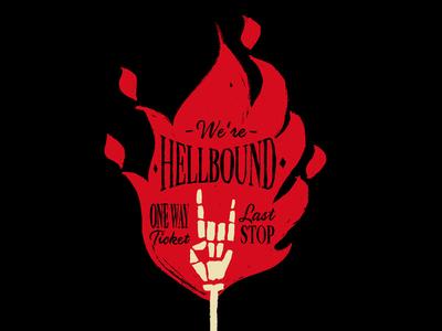 Hellbound fire illustration hellbound hell