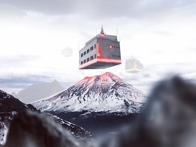 Volcán Popocatépetl mexico volcan photoshop