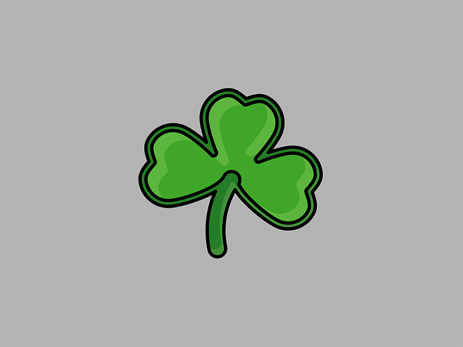 My Month In Icons: Day 28 -- Slainte shamrock st. patricks day highlight vector iconography linear 30 day challenge icon illustration