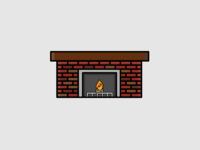 My Month In Icons: 29 -- Fireplace