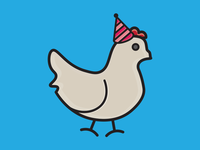 My Month In Icons: Day 30 -- Party Chicken