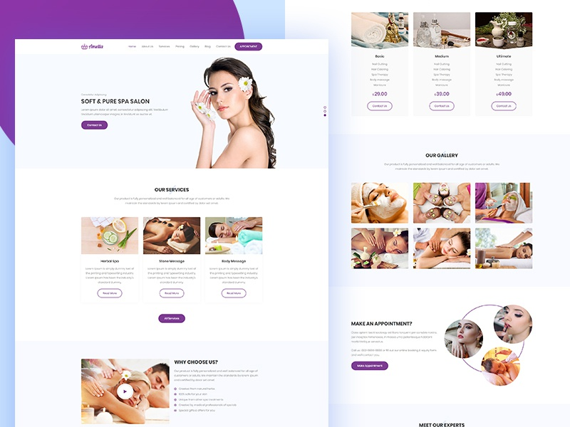 Amella - Spa and Beauty Salon Template wellness center spa and beauty salon spa skin care salon physiotherapy make up hydrotherapy health care day spa body message beauty salon beauty parlour beauty care aromatherapy